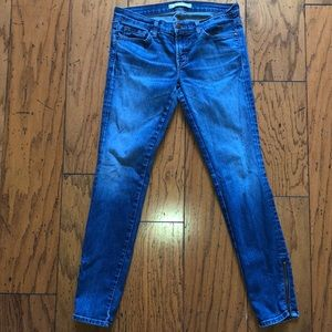 J Brand size 28 soft jeans with ankle zippers